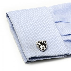 Brooklyn Nets Palladium NBA Cufflinks