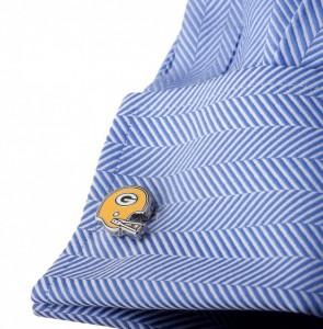 Retro Green Bay Packers Helmet Cufflinks