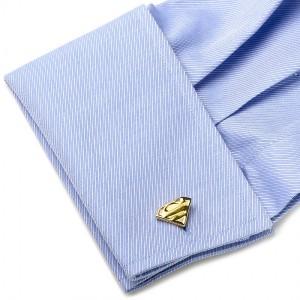Gold Superman Shield Cufflinks