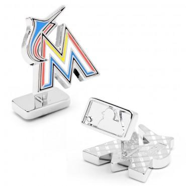 Miami Marlins Palladium MLB Cufflinks