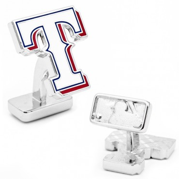 Texas Rangers Palladium MLB Cufflinks