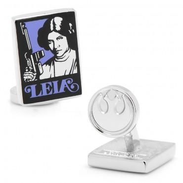 Princess Leia Pop Art Poster Cufflinks
