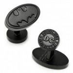 Satin Black Batman Logo Cufflinks