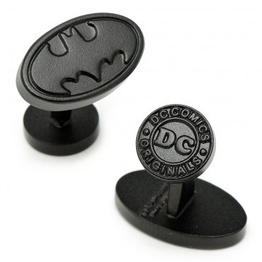 Satin Black Batman Logo Cufflinks