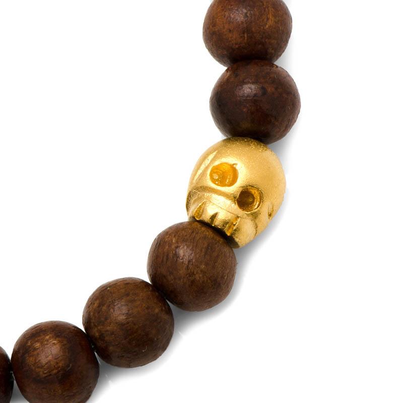 Thomas Wood Stretch Bracelet in Gold