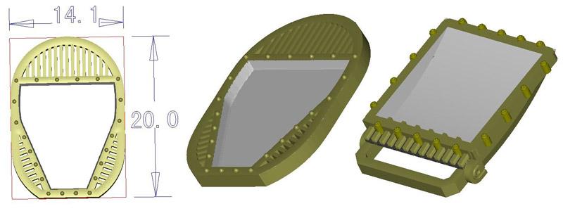 3D design for cufflinks