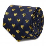 Superman Shield Navy Tie