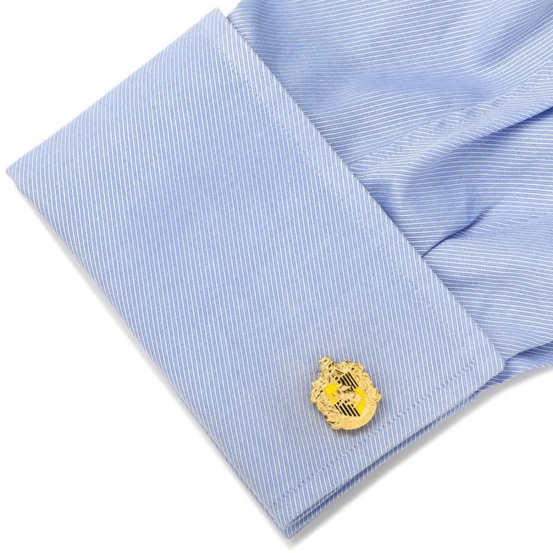 Hufflepuff Crest Cufflinks