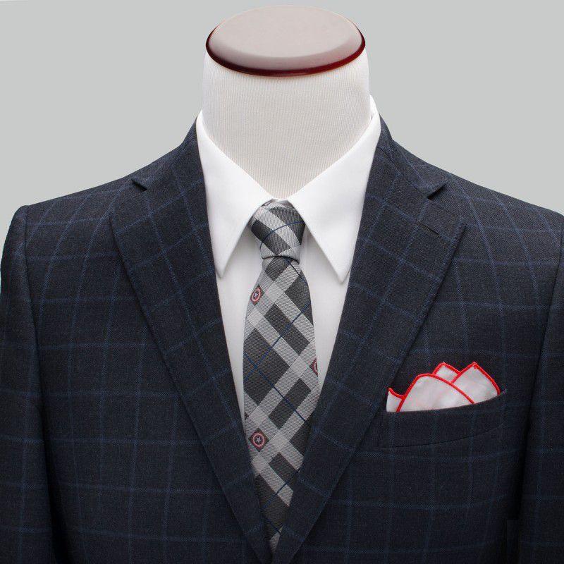 Captain America Gray Plaid Tie
