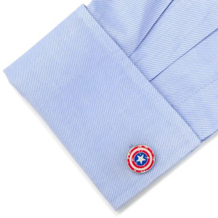 Captain America Distressed Shield Cufflinks