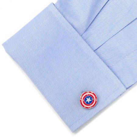 Captain America Distressed Shield Cufflinks