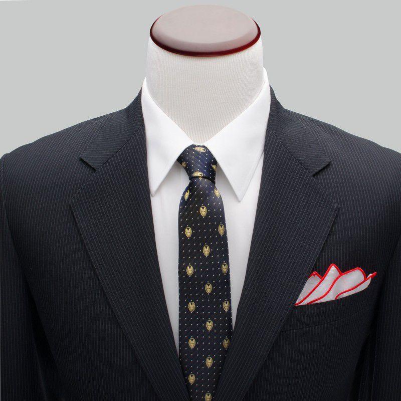 Iron Man Gray Dot Tie