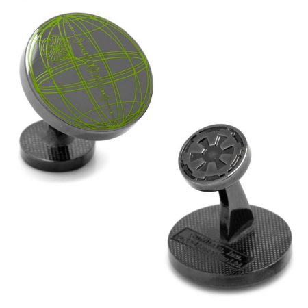 Death Star Blueprint Plans Cufflinks