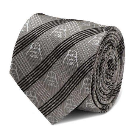 Darth Vader Gray Plaid Tie