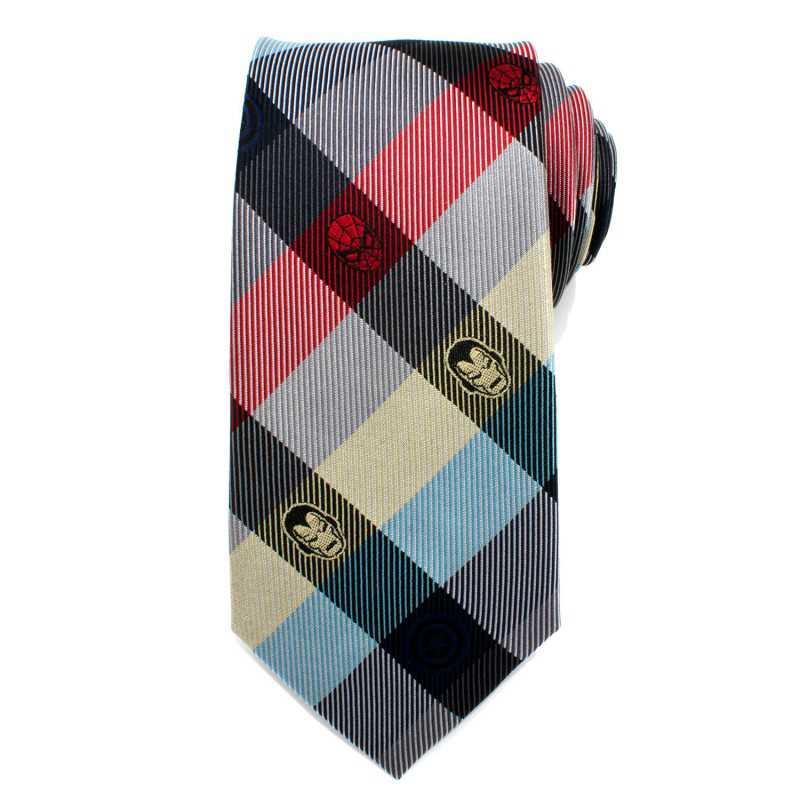 Marvel Rainbow Comics Plaid Men's Tie