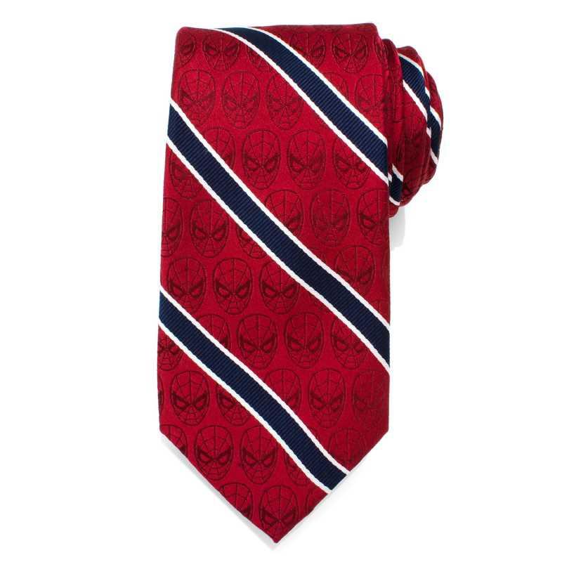 Spider-Man Red and Navy Stripe Men's Tie