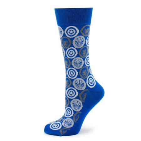 Marvel Comic Favorites Blue Socks