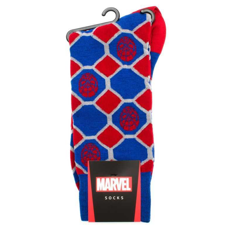 Spider-Man Blue Checker Socks