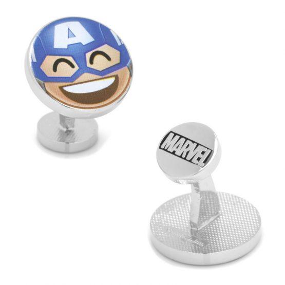 Captain America Emoji Cufflinks