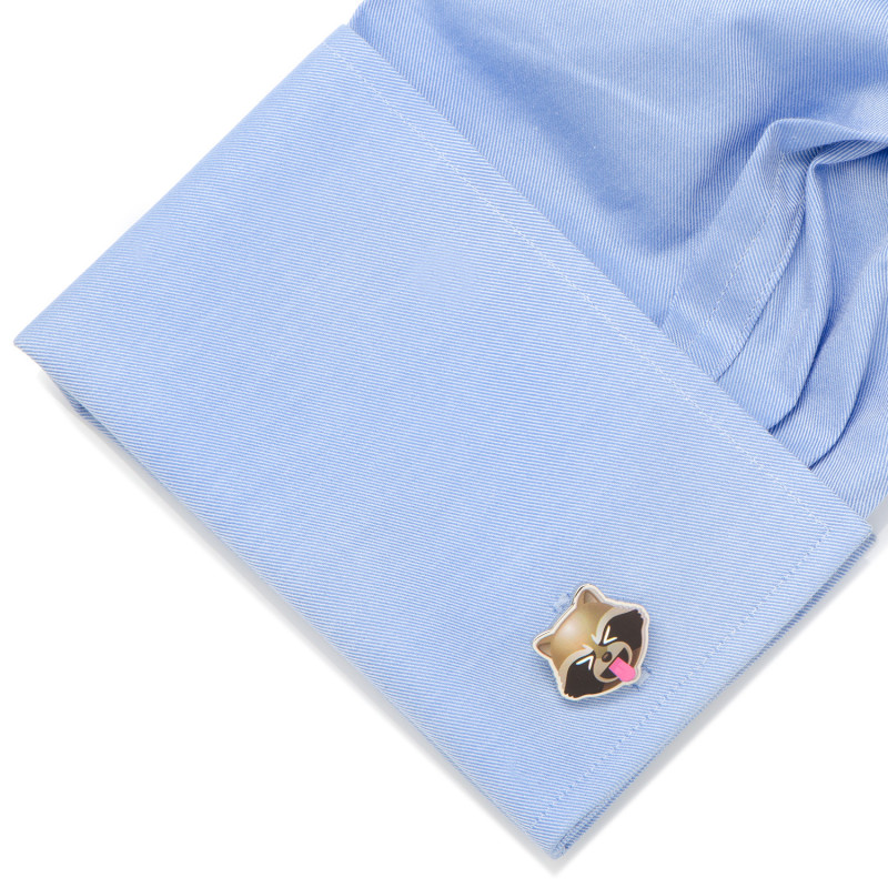 Rocket Raccoon Emoji Cufflinks