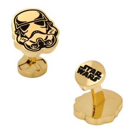 Stormtrooper Stainless Steel Black and Gold Cufflinks