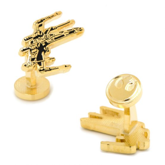 Gold Plated X-Wing Cufflinks