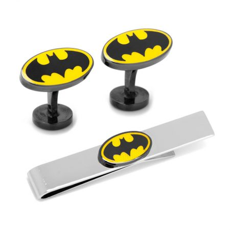 Batman Transparent Enamel Cufflinks and Tie Bar Gift Set