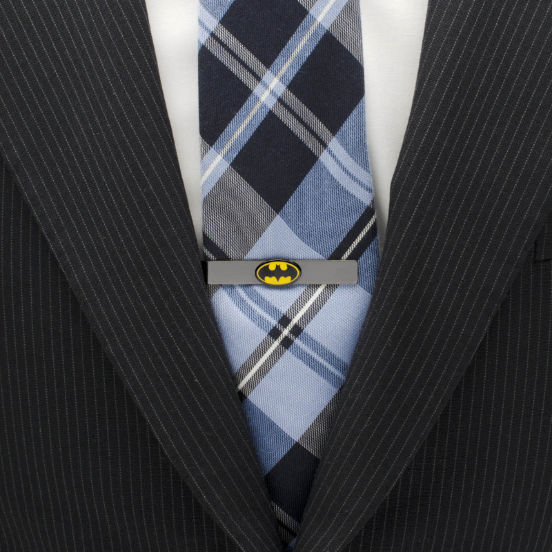 Black Batman Logo Tie Bar
