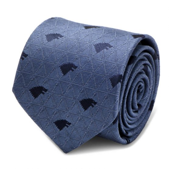 Stark Geometric Sword Blue Men's Tie