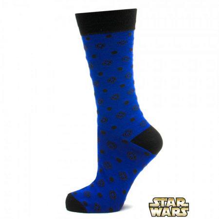 Blue Imperial Dot Socks