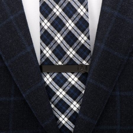 Satin Black Imperial Symbol Tie Bar